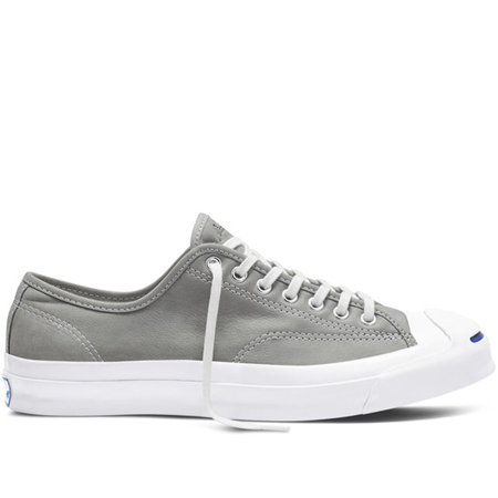 6d646a4138a7 mens converse jack purcell signature ox grey white 151447c - Walmart.com