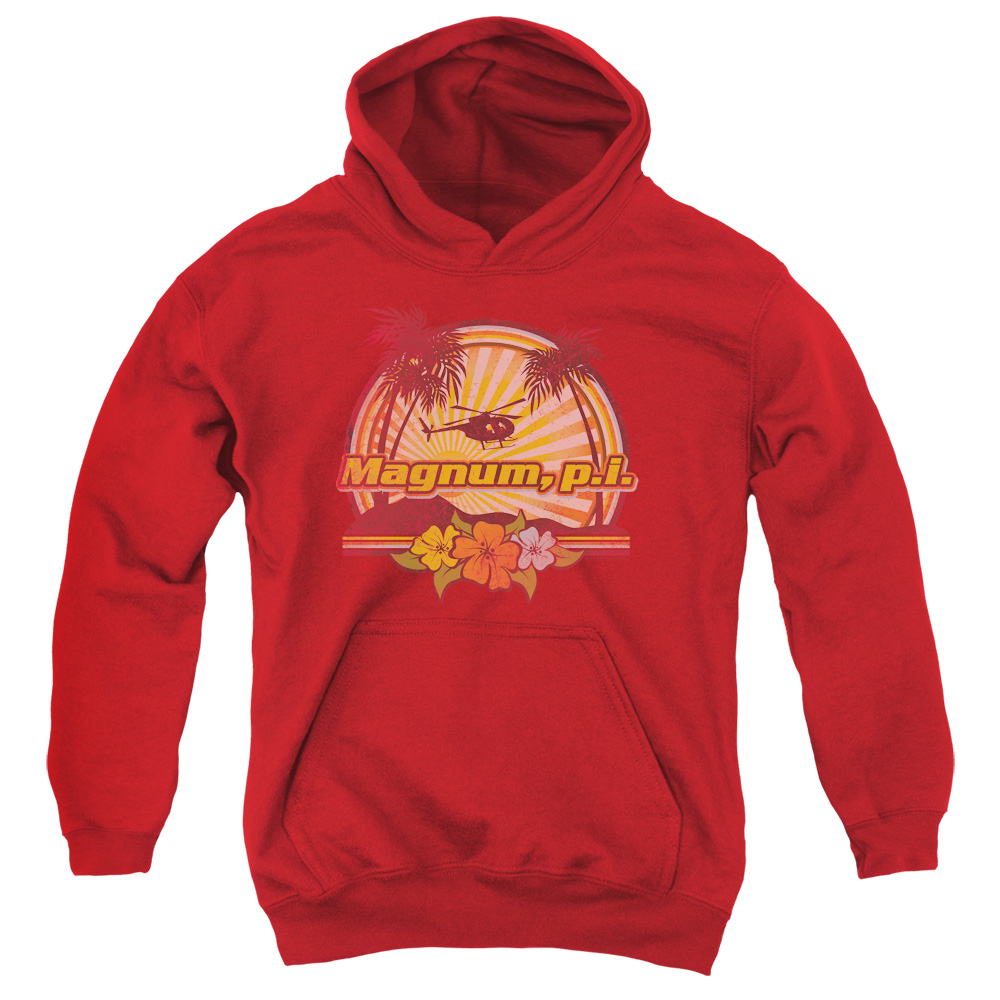 Magnum PI HawaIIan Sunset Big Boys Pullover Hoodie