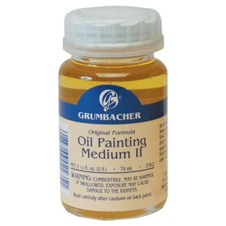 Grumbacher Oil Painting Medium II, Slow Dry, 2.5 oz.