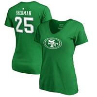 Richard Sherman San Francisco 49ers NFL Pro Line by Fanatics Branded Women's St. Patrick's Day Icon Name & Number V-Neck