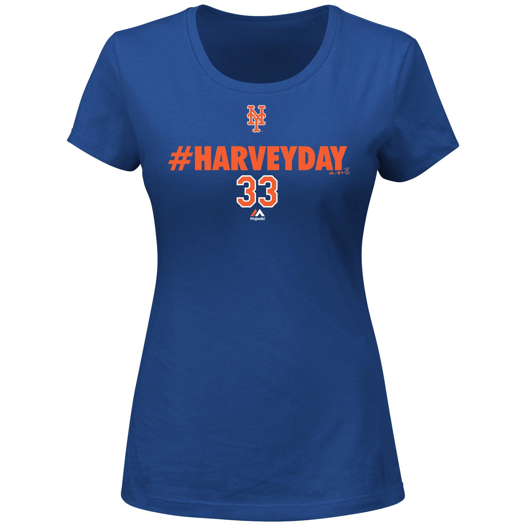 Matt Harvey New York Mets Majestic Women's Harvey Day T-Shirt - Royal