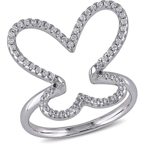 3/4 Carat T.G.W. Cubic Zirconia Sterling Silver Fashion Ring