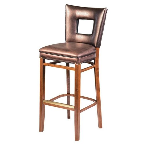 Regal Seating 2426FUS Beechwood Square Cut Out Back Bar Stool