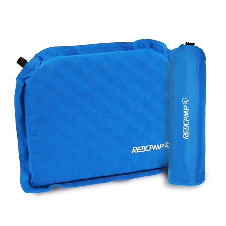 REDCAMP Inflatable Sports Seat Cushion with Storage Bag, Take it Anywhere and Watch The Game in Stadium, Royal (Sport Salts)