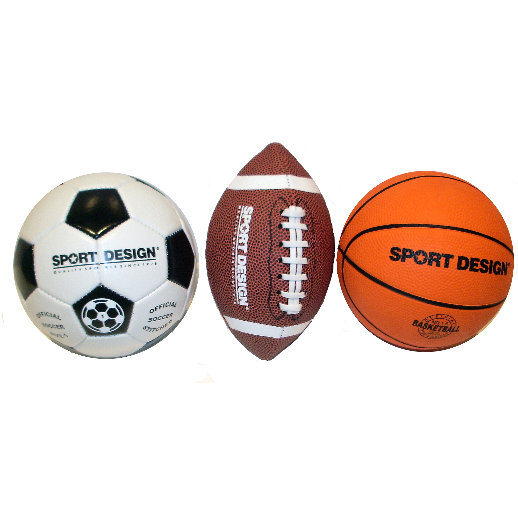 Soccer ball craft ideas - Sport Design Mini Ball Set Soccer Football And Basketball Walmart Com