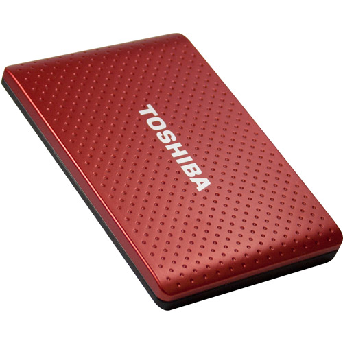 Toshiba 1 TB Automatic Backup Portable Hard Drive. Red