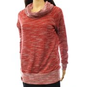 Bobeau NEW Red Women's Size XS Textured Printed Cowl Neck Sweater $59