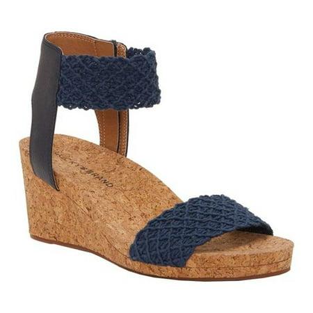 c43f29d1a Lucky Brand - Women's Lucky Brand Kierony Ankle Cuff Wedge Sandal -  Walmart.com