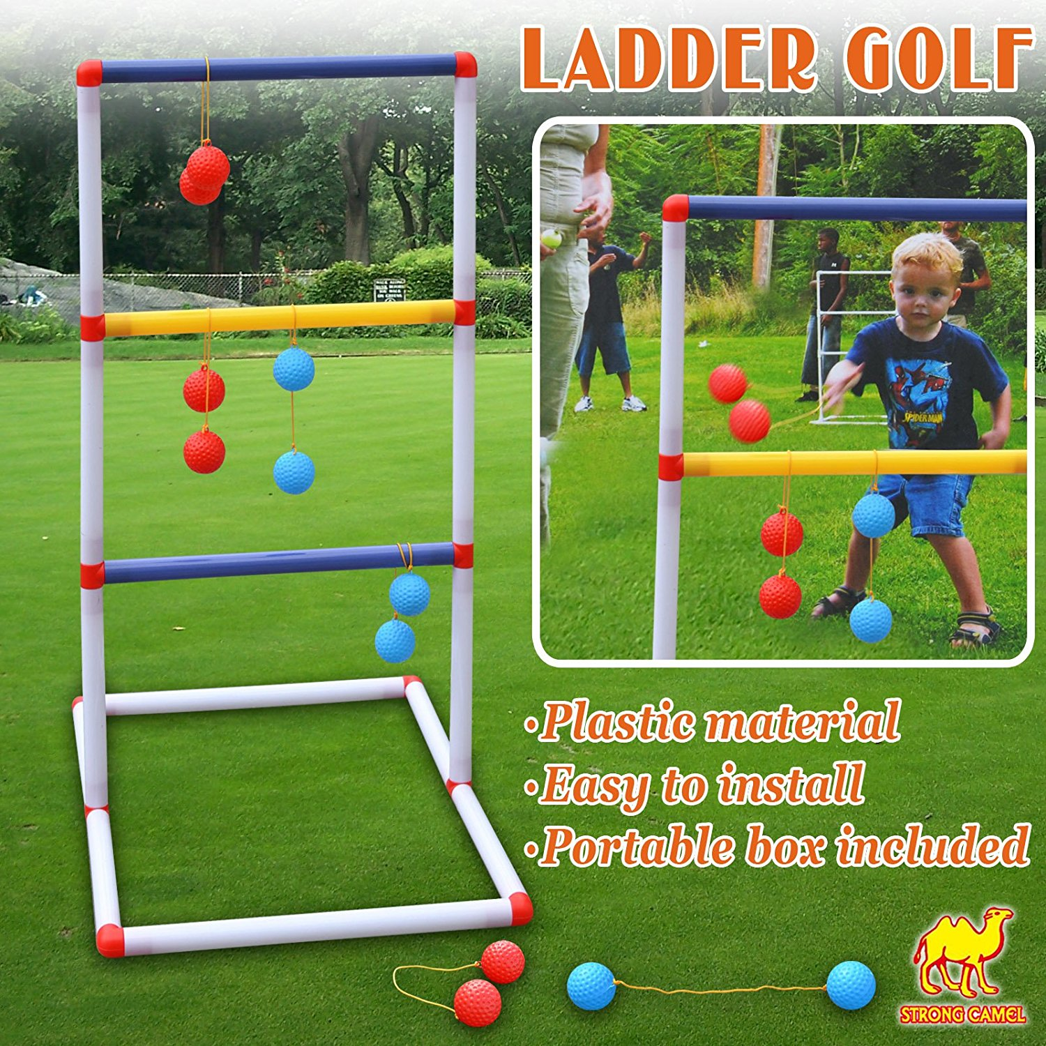 Strong Camel Ladder Toss Game Set Golf Backyard Family Games With 6 Bolos  Kids Child Sports