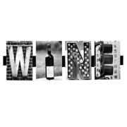Language Art 'Wine' by Greg and Dilynn Puckett Textual Art in Black and White