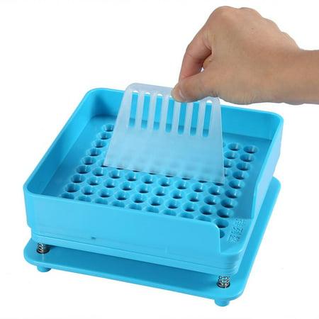 WALFRONT 100 Holes Manual Filling Capsule Plate Capsule Powder Blue Filler Plate Machine Tool