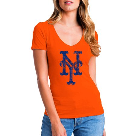 MLB New York Mets Women's Short Sleeve Team Color Graphic Tee for $<!---->