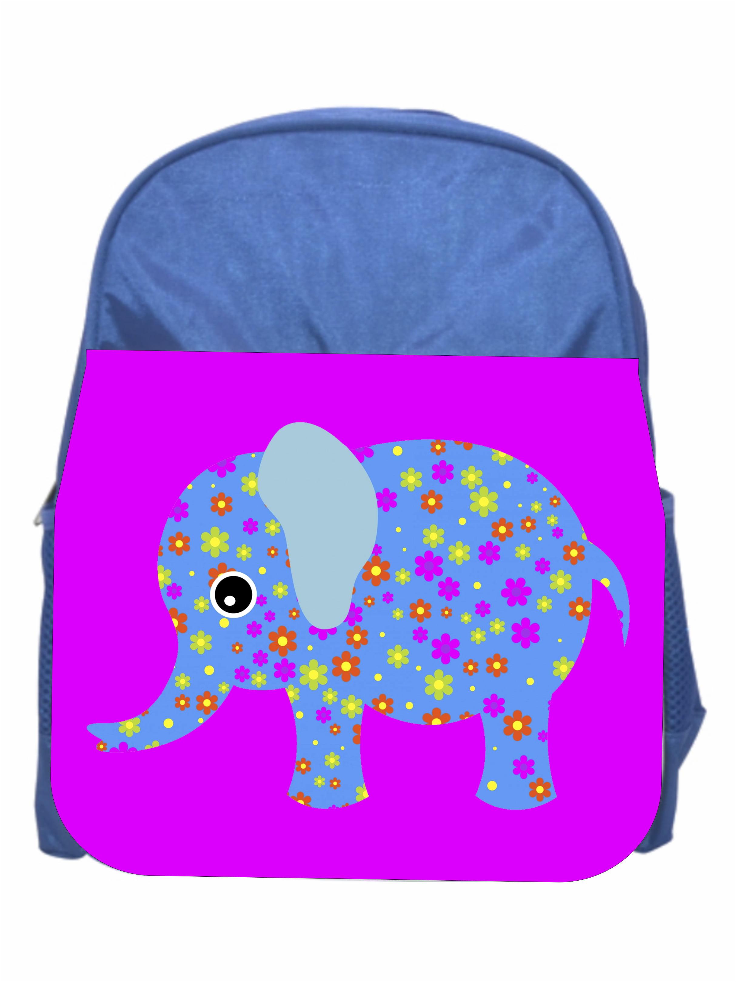 Elephants Pink Girls Preschool Toddler Backpack /& Lunch Box Set