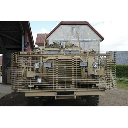 A Mastiff 6x6 armored patrol vehicle of the British Army Canvas Art - Andrew ChittockStocktrek Images (17 x 12)