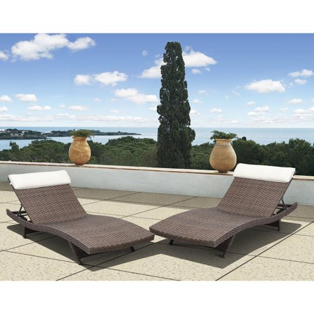 Deluxe Chaise - Atlantic New Hampshire All-Weather Wicker Deluxe Chaise Lounge - Set of 2