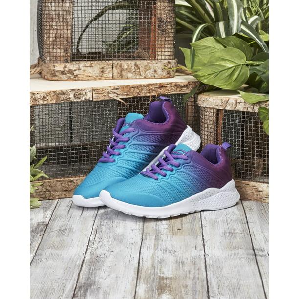 Women's Memory Foam Foot Bed Sneakers - Aqua