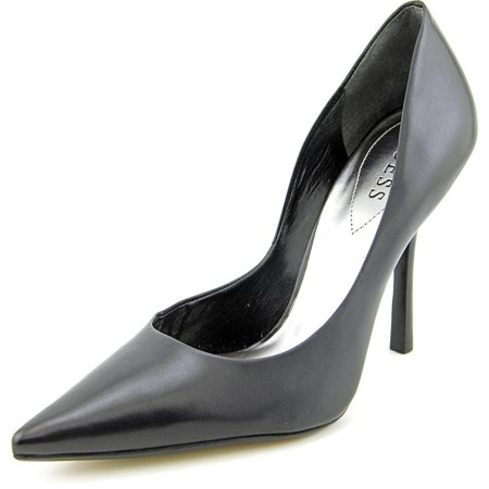Guess Carrie Women Pointed Toe Leather Black Heels