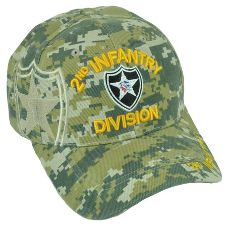 2nd Infantry Division Indian Head Digital Camouflage Military Hat Cap