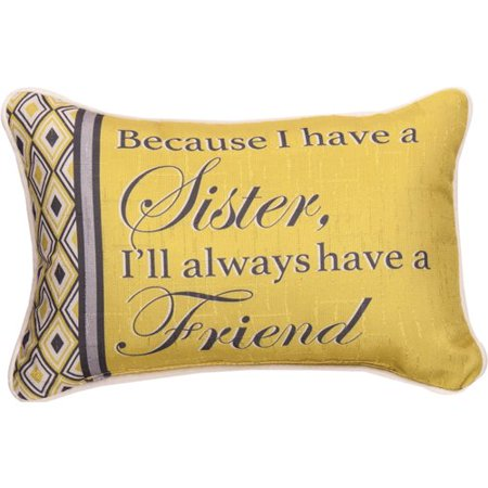 Manual Woodworkers & Weavers Because Sister... Best Friend - Word Lumbar Pillow