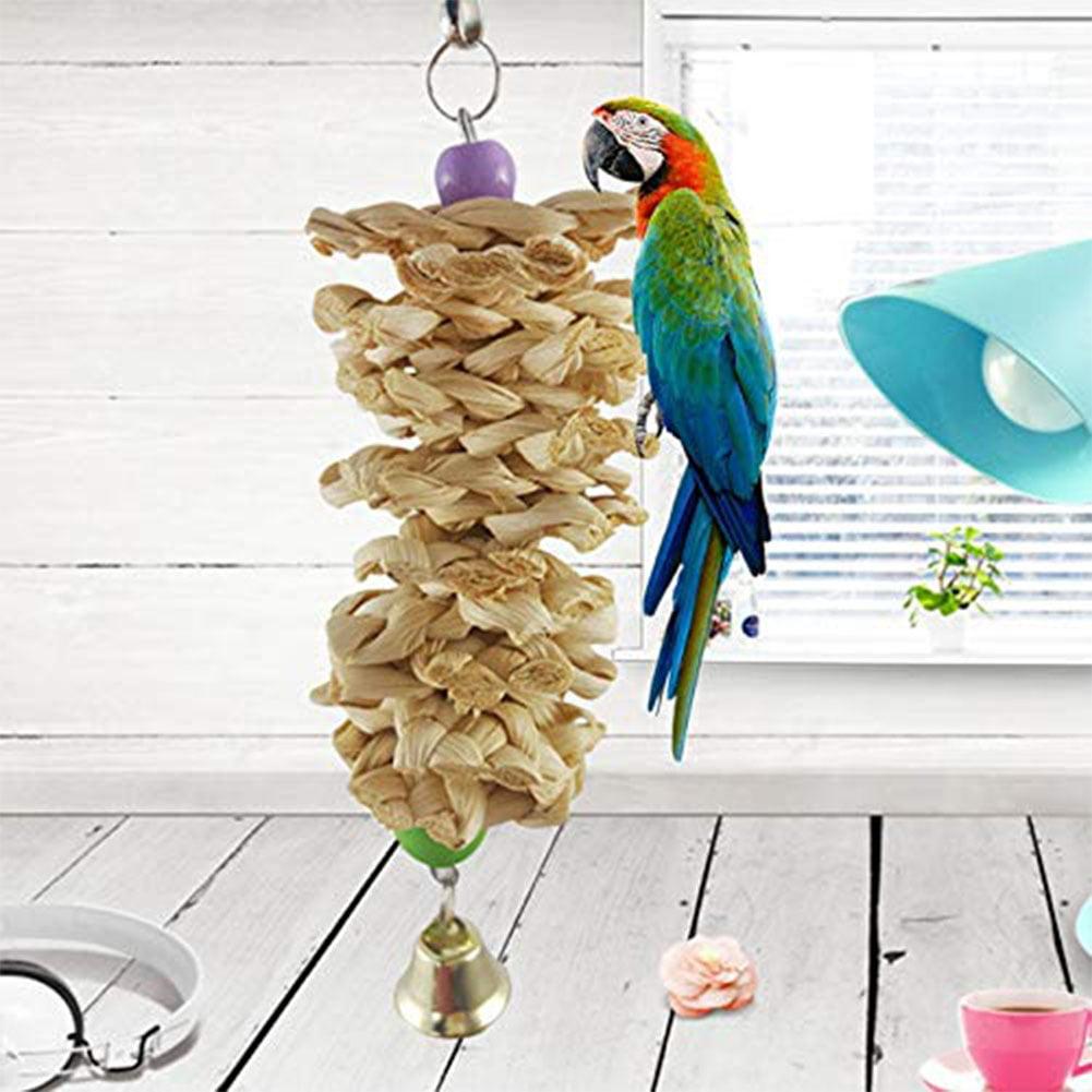 Bird Parrot Cage Hanging Climbing Bite Chewing Toys Great Grinding Beak Toy