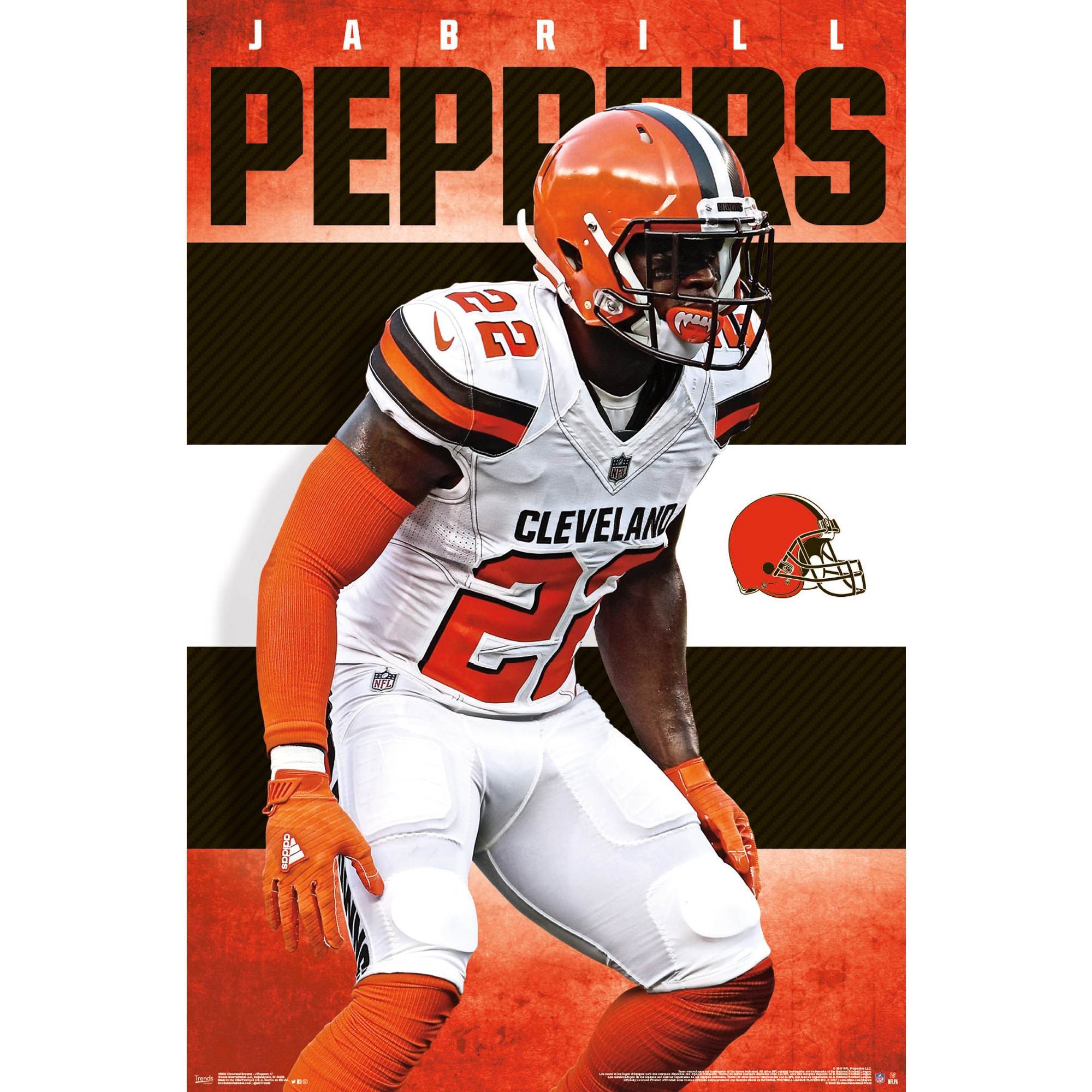 Jabrill Peppers Cleveland Browns 22'' x 34'' Player Poster - No Size