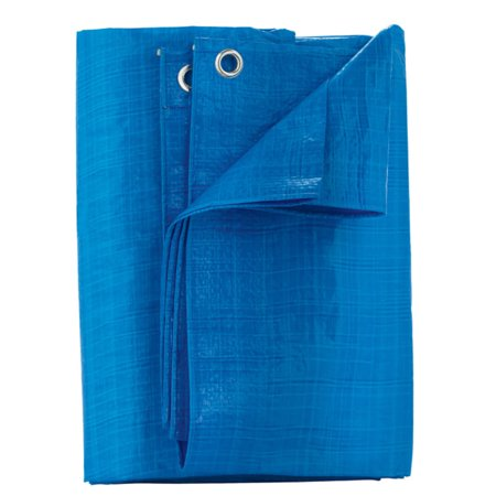 Home Plus P46-88W Light Duty Polyethylene Tarp, Light Blue, 4' x