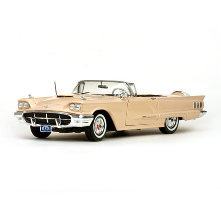 1960 Ford Thunderbird Open Convertible Tawney Beige 1/18 Diecast Car Model by - 1960 Ford Thunderbird