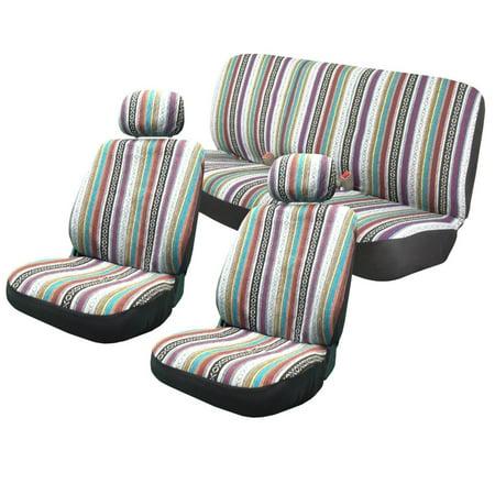 Golf Seat Blanket (Unique Imports Baja Inca 8pc Saddle Blanket Seat Covers Set Front Pair Bench VW Golf)