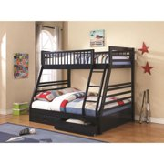 Twin over Full Bunk Bed-Finish:Navy Blue