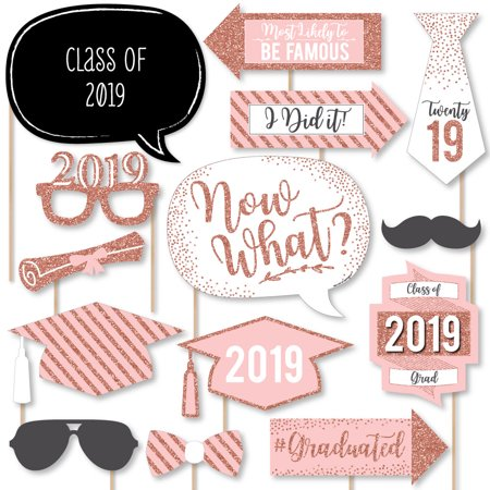 Purple Monkey Photo Booth (Rose Gold - 2019 Graduation Party Photo Booth Props Kit - 20)