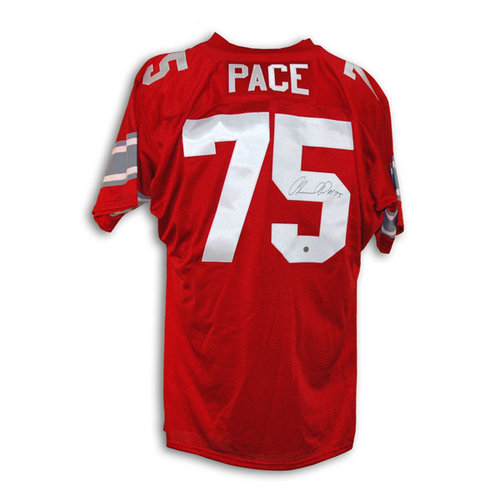 NCAA - Orlando Pace Ohio State Buckeyes Red #75 Throwback Jersey