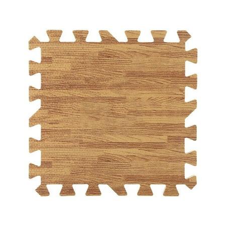 9Pcs 30x30cm Printed Wood Grain Interlocking Soft EVA Foam Floor Puzzle Mats For Gym Equipment Kids Play