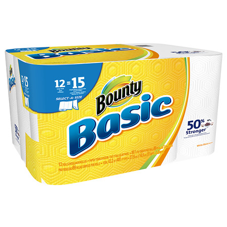 Bounty Basic Paper Towels Large 12.0 ea (Pack of 12)