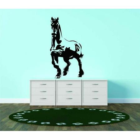 Custom Wall Decal Horse Wild Equine Vinyl Wall Decal Bedroom Decoration Kids Boy Girl Teen Dorm Room Children 20x25 (Teen Boys Bedroom Decorations)