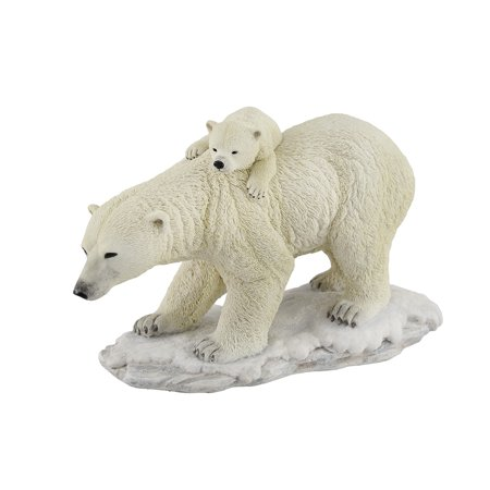 Polar Bear Mother With Adorable Freeloading Cub Statue - image 4 de 4