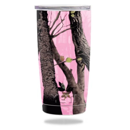 MightySkins Protective Vinyl Skin Decal for YETI 20 oz Rambler Tumbler wrap cover sticker skins Pink Tree