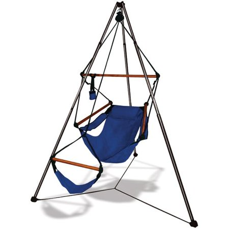 Hammaka Polyester Chair Hammock with Stand Features:  -Foldable: Yes.  Product Type: -Chair hammock.  Hammock Material: -Polyester.  Pattern: -Solid Color.  Weight Capacity: -400 Pounds. Dimensions:  Hammock Width - Side to Side: -57 .  Hammock Depth - Front to Back: -45 .  Overall Product Weight: -20 lbs.  Hammocks Hanging Outdoor Living Aluminum Black Blue Burgundy Green Hunter Jet Midnight Natural Tan Wood Beige Brown Fabric Polyester Portable Red Single Solid holidays, christmas gift gifts for girls boys