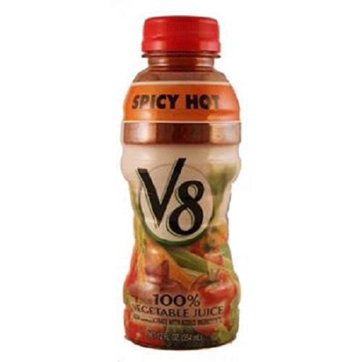 V8 Spicy Hot 100% Vegetable Juice, 12 oz