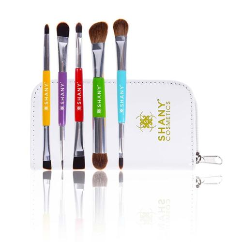 Shany Cosmetics  The Double Tree 5-piece Double-Sided Essential Brush Set with Travel Pouch