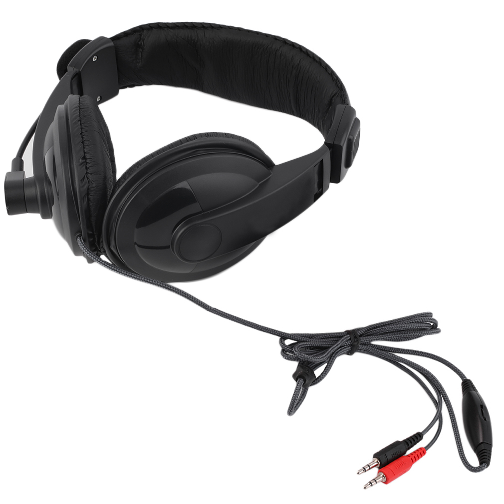 Adjustable Headset Music Gaming Microphone 3.5mm Plug & Play for PC Laptop