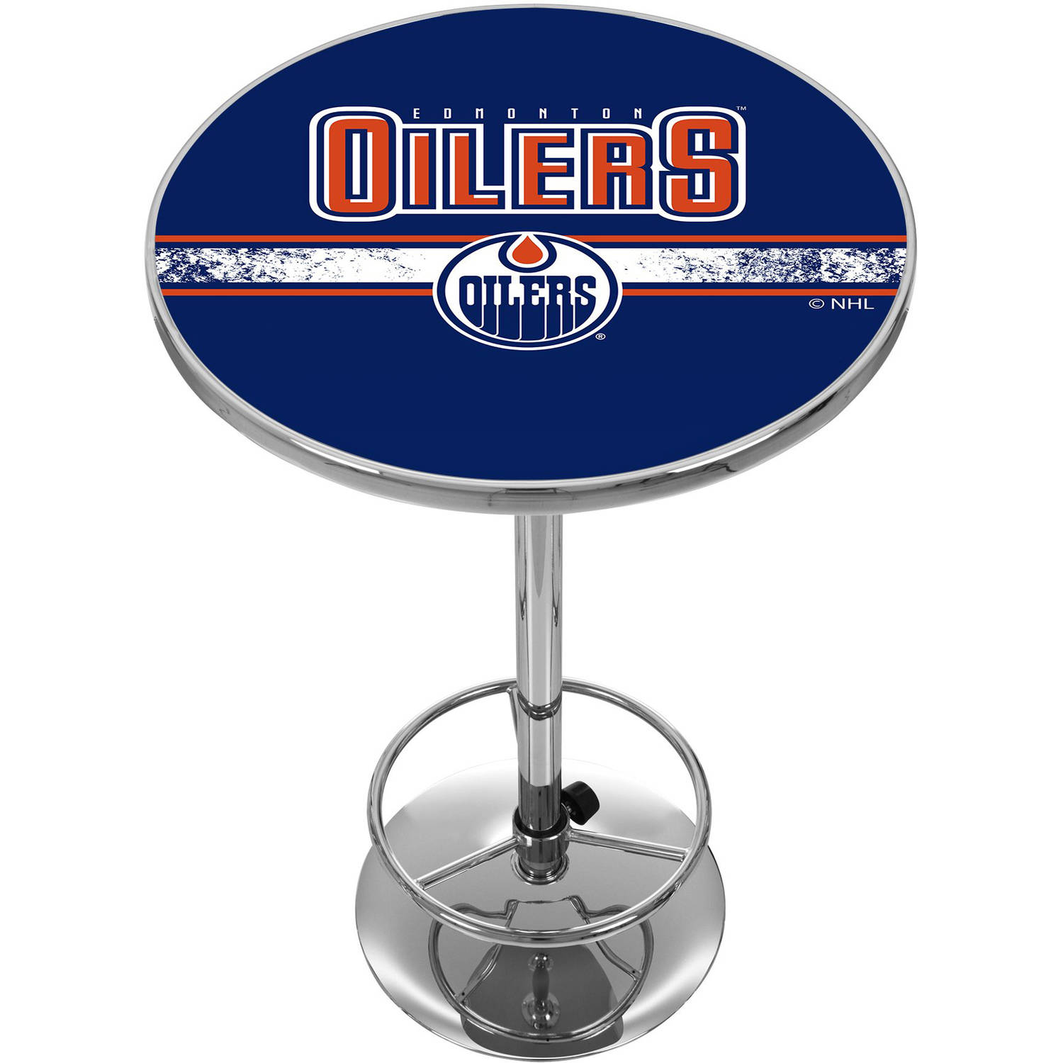 NHL Chrome Pub Table, Edmonton Oilers