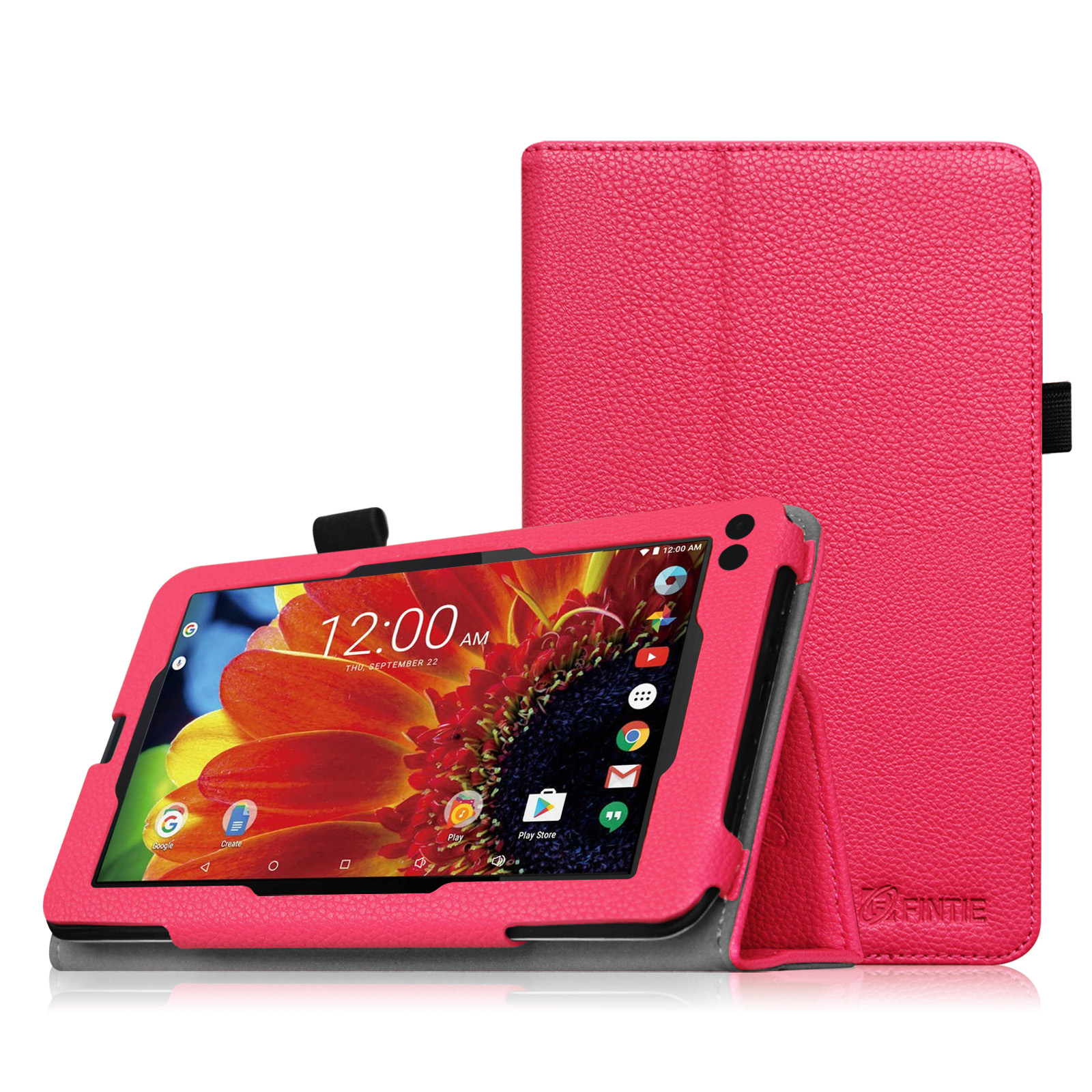 "Fintie Premium PU Leather Folio Case Stand Cover for RCA 7"" Tablet / RCA Voyager II 7"" Tablet WIFI Android, Magenta"