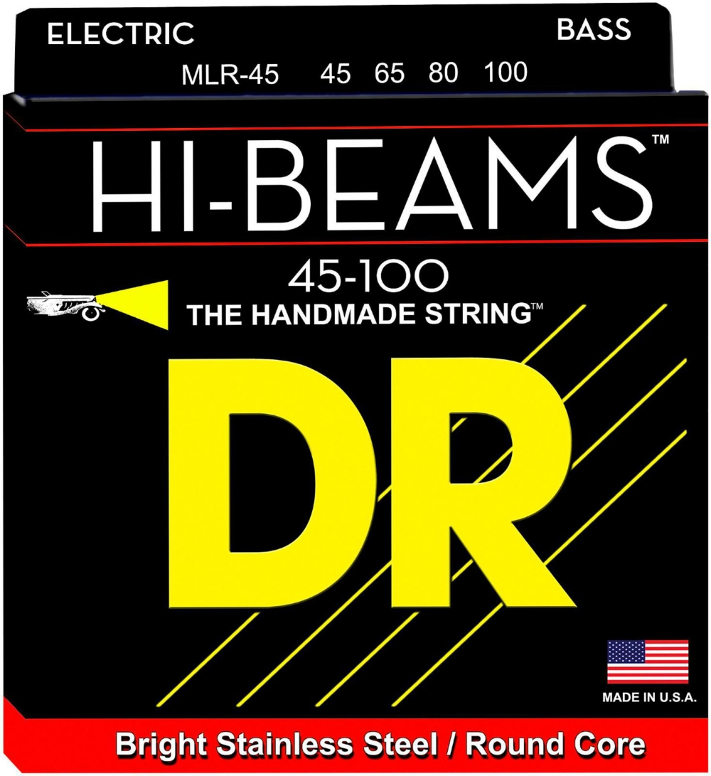 DR Strings Hi-Beams Medium-Lite 4-String Bass Strings by DR Strings