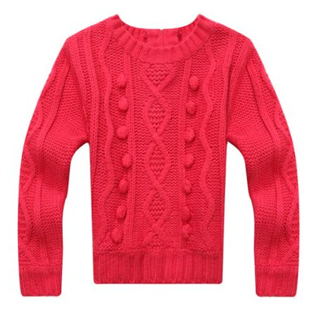 Richie House Girls' Sweet Sweater in Solid Color RH1098