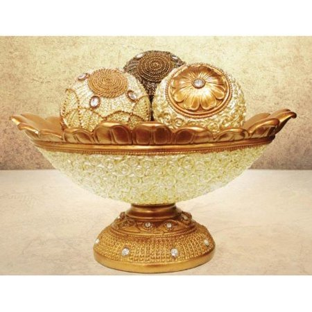 Jay Import Decorative 40 Piece Orb Set With Bowl Walmart Extraordinary Decorative Orbs For Bowls