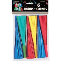 Prism New Years Party Horns, 6ct
