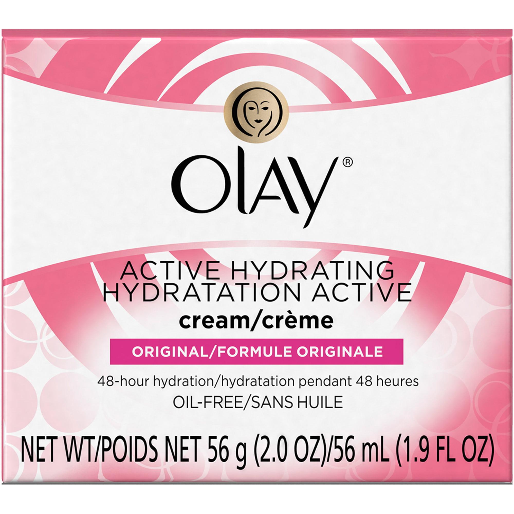 Olay Active Hydrating Facial Moisturizer Cream, 2.0 oz