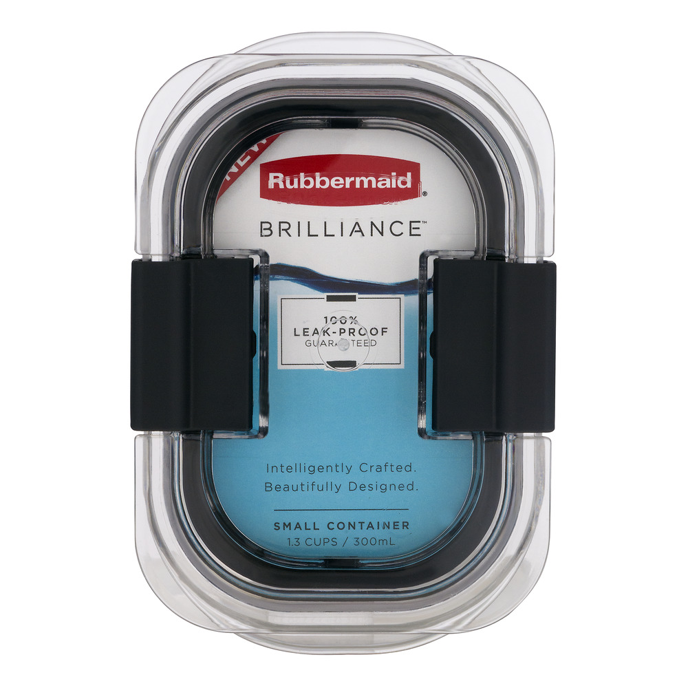 Rubbermaid Brilliance Food Storage Container, Multiple Sizes, Clear