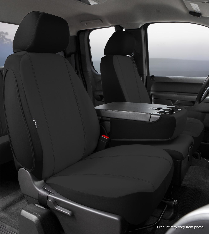 Fia Inc. SP87-36 BLACK FIASP87-36 BLACK 15-16 F150 SEAT PROTECTOR CUSTOM SEAT COVER, FRONT SPLIT SEAT 40/20/40 BLACK