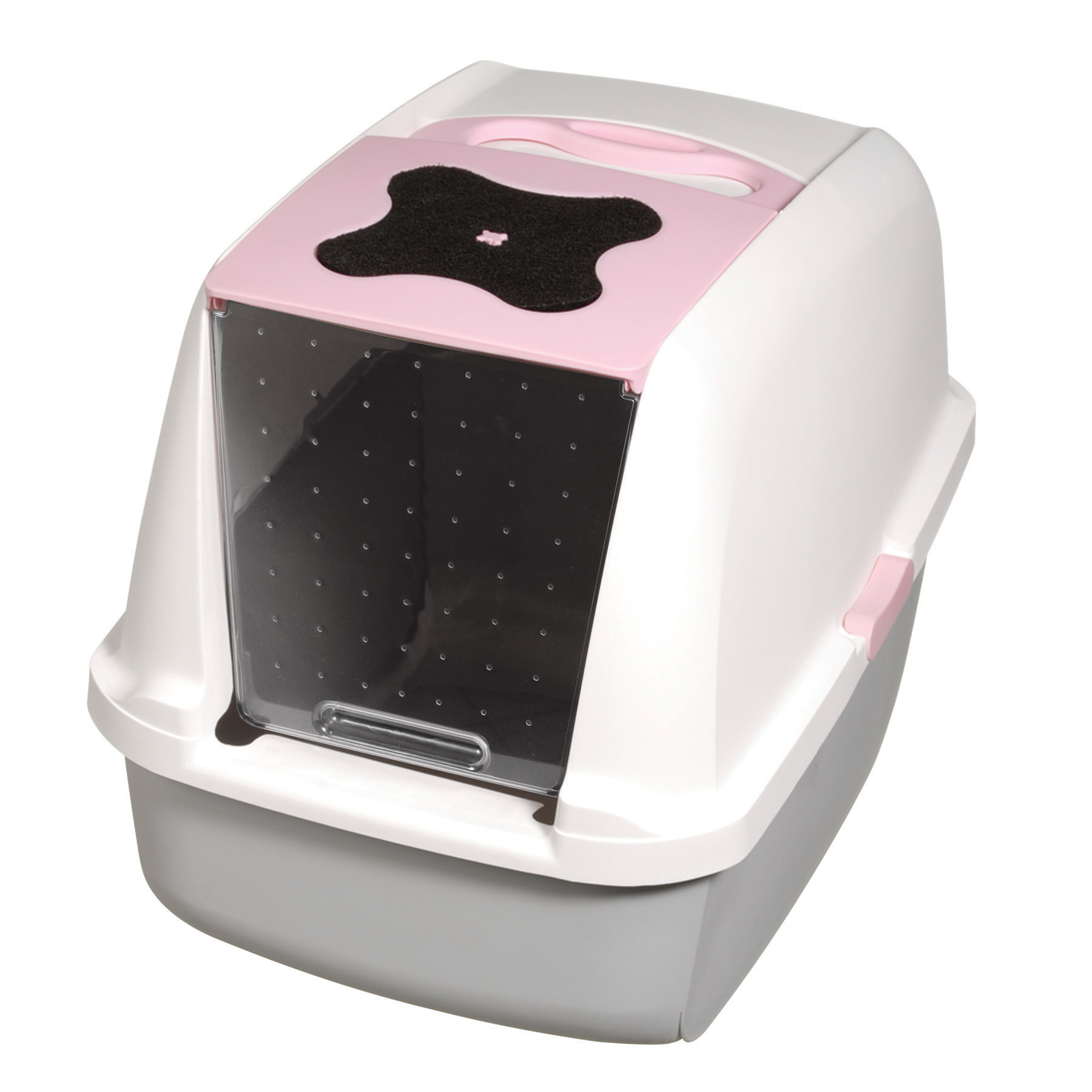 image covered cat litter. Catit, Covered Cat Litter Box, Pink Image Covered Cat Litter E